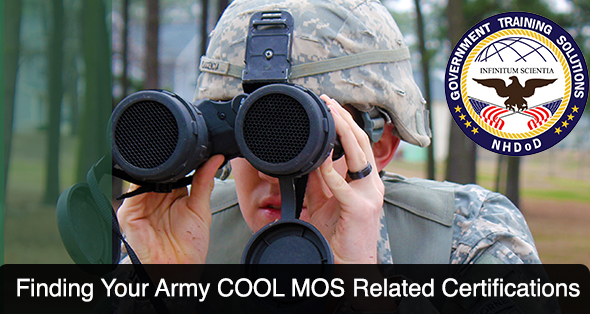 Finding Army COOL MOS Related Certifications Shout