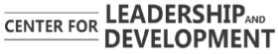 Logo Center for Leadership and Development